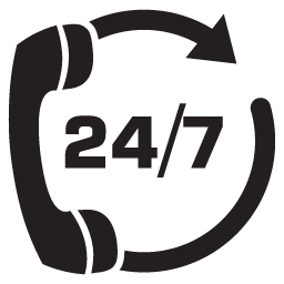 Image result for 24/7 SUPPORT BLACK PNG